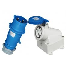 EKYK   3P  16A   IP44明装工业插头插座套装(蓝色)