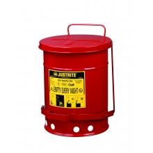 justrite/带脚踏的20升油渍废品罐/09100