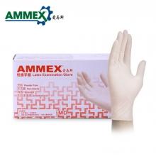 爱马斯  TLFCVMD乳白色  一次性医用乳胶手套
