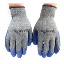 SAFEMAN君御 7112纱线皱纹挂胶手套(灰纱蓝)